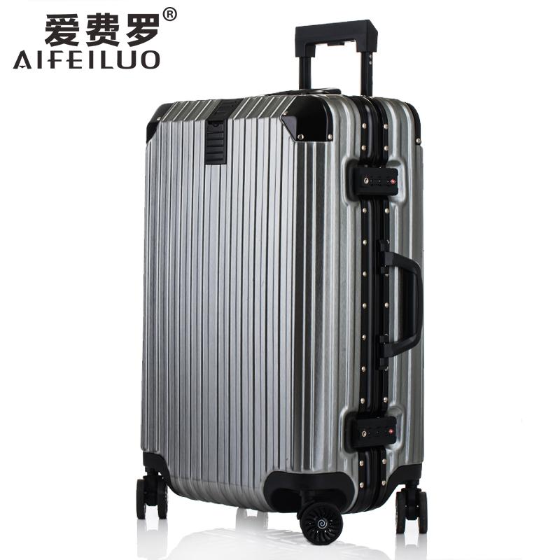 行李箱女拉杆箱铝框旅行箱万向轮男26学生密码箱包20寸24皮箱子28