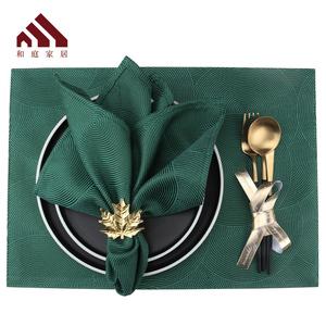 北欧风格口布餐巾布餐垫围脖子酒店西餐餐厅折花方巾擦杯布扣环