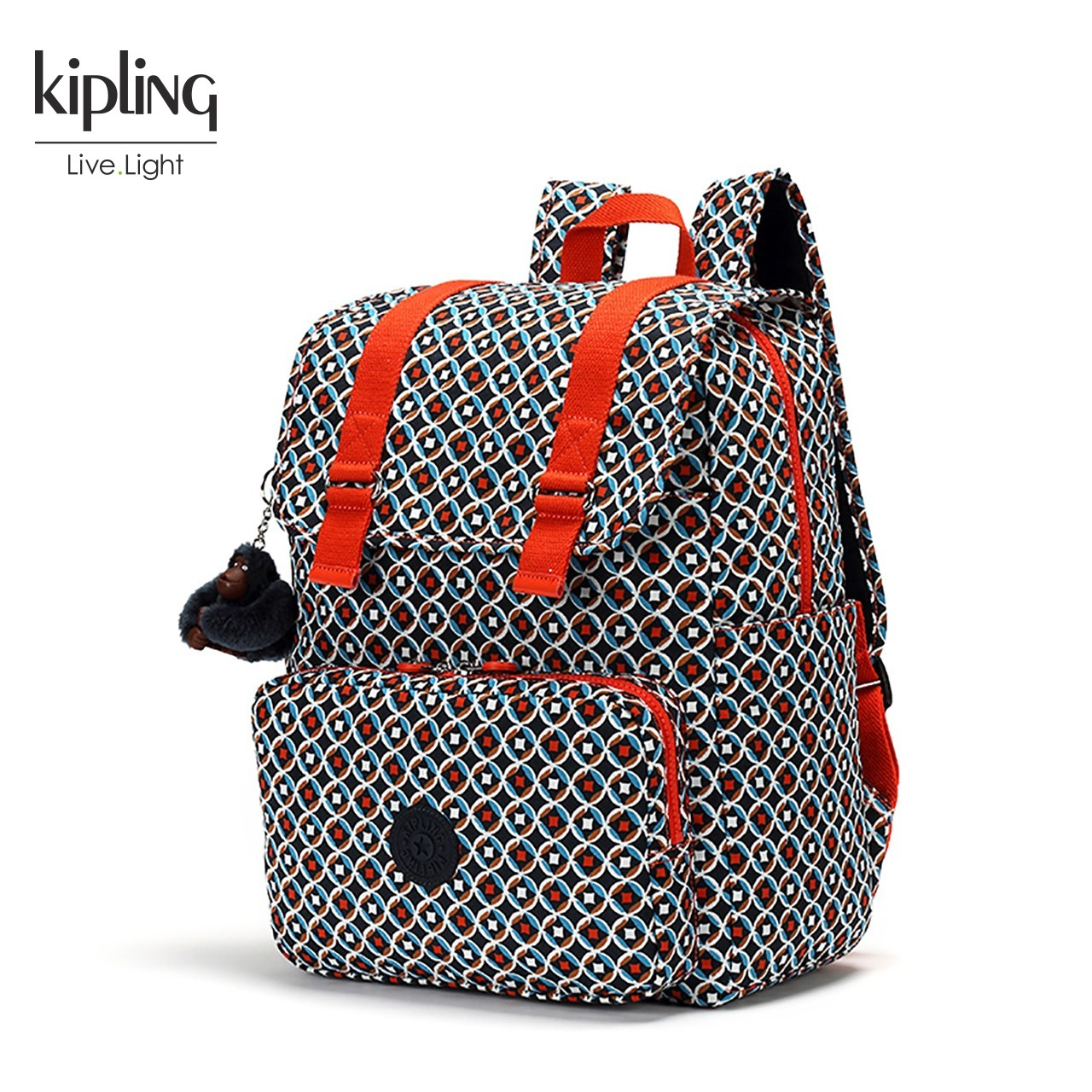 Kipling凯浦林2018新款轻便女包K00935休闲校园双肩包