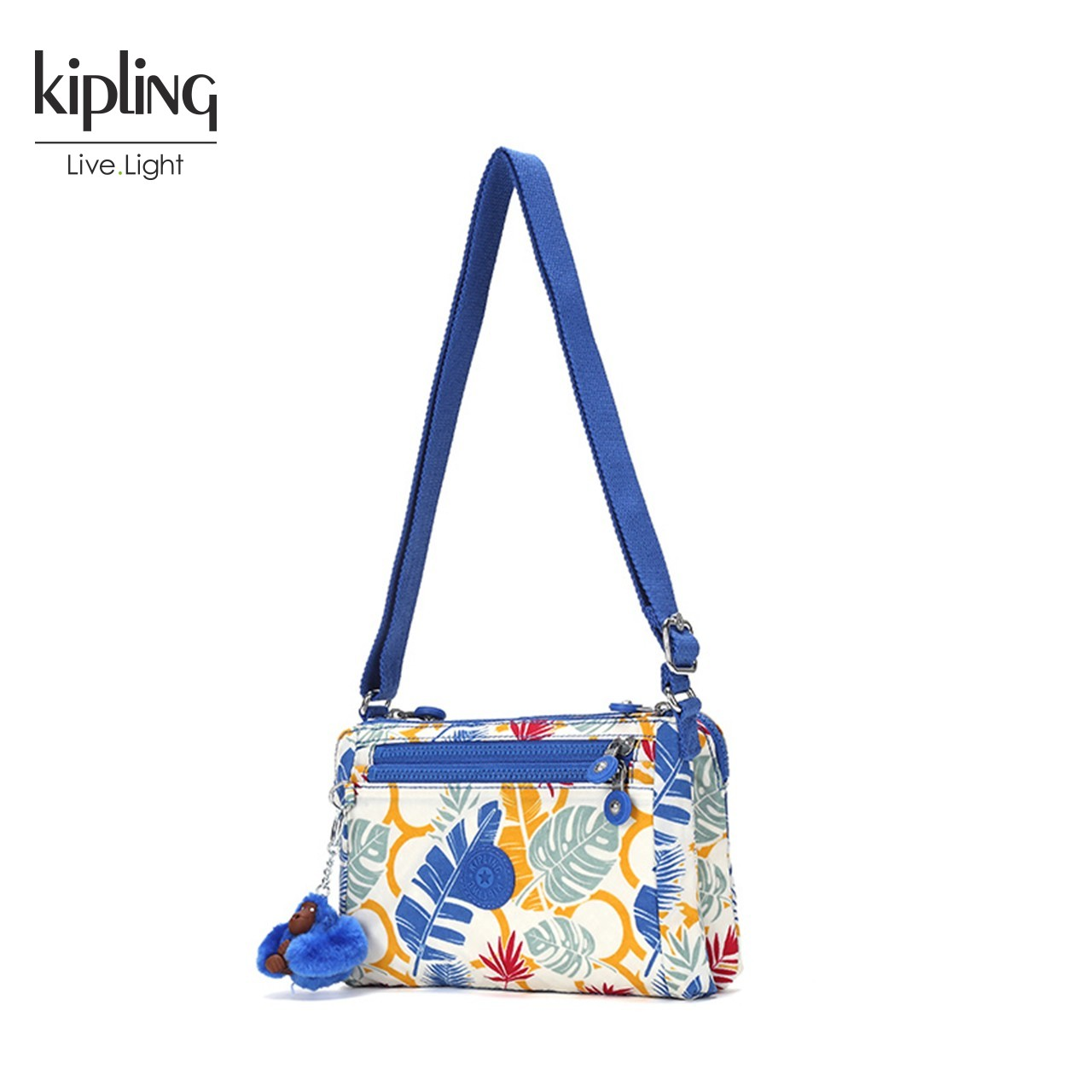 Kipling女包2018新款潮款轻便斜挎包K72581休闲小方包百搭单肩包