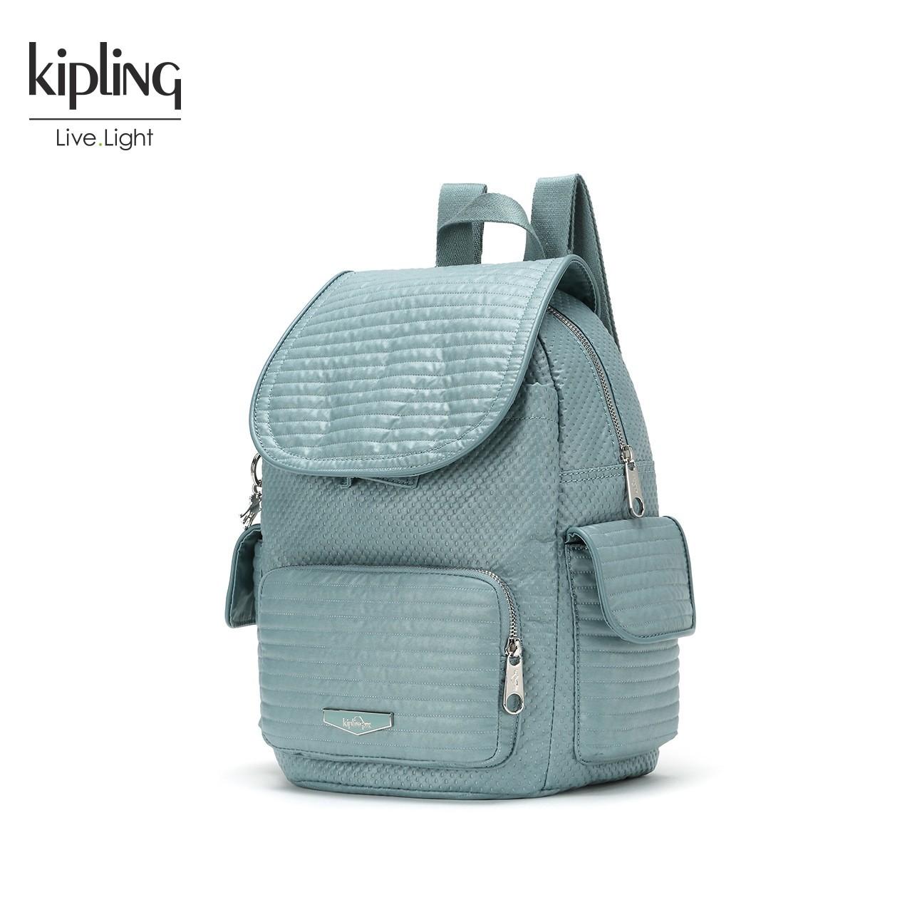 Kipling凯浦林女包2018新款K18731双肩包绗缝休闲百搭女士背包