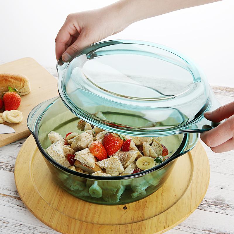 原装进口带盖钢化碗烤箱微波炉专用碗汤锅沙拉盘亚洲AG集团烤盘餐具
