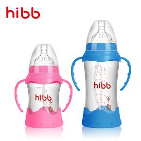 【浩一贝贝旗舰店】防摔耐热玻璃奶瓶