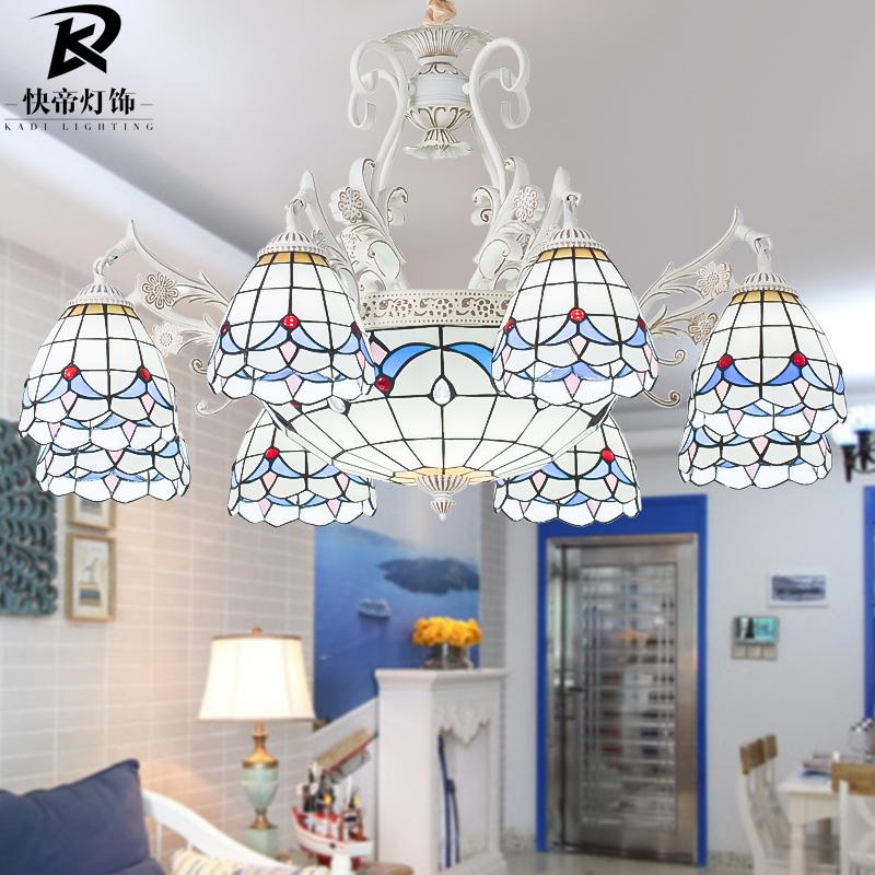地中海风格吊灯客厅灯欧式田园吊灯北欧卧室灯餐厅灯具蒂凡尼灯饰