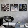 现代简约抽象客厅壁画客厅装饰画沙发背景三联墙画卧室酒店挂画