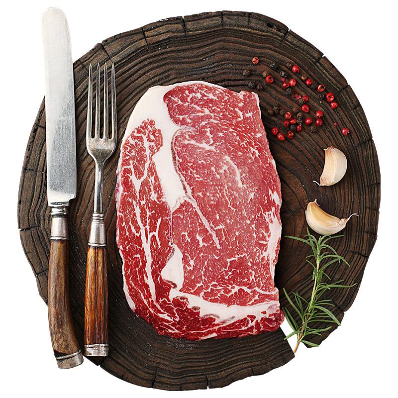 绝世 澳洲 原肉整切牛排套餐 1480g共10块 送意面、牛排夹