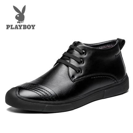 [包邮]花花公子加绒商务休闲皮鞋