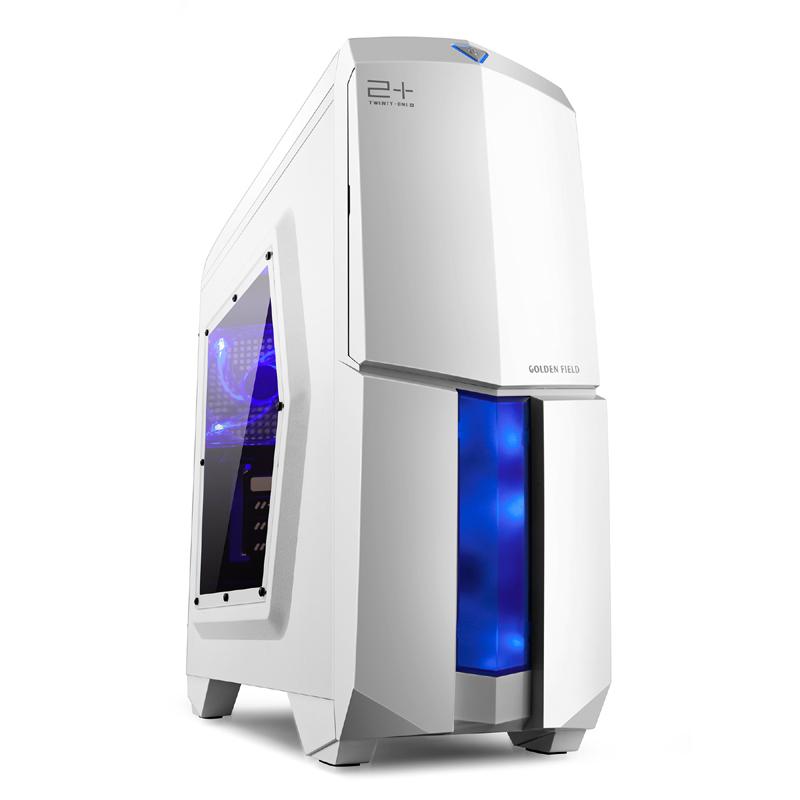 金河田预见N8-N9台式机电脑主机箱水冷游戏侧透明ATX小机箱usb3.0