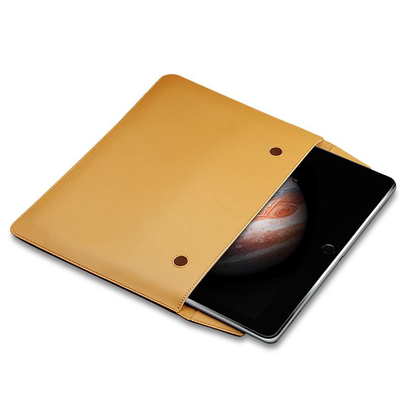 苹果iPad12.9保护套6平板air2电脑5内胆包9.7寸牛皮新款pro10.5