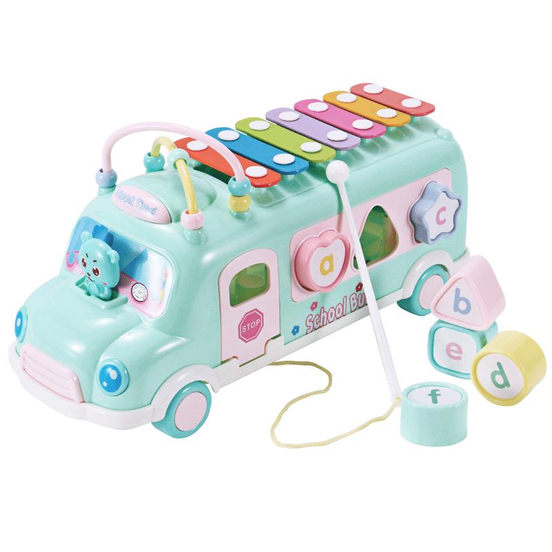 幼儿童婴儿手敲琴8个月宝宝音乐男孩0-1-2-3-4岁儿童玩具小汽车