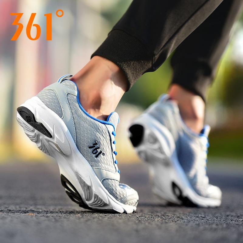 361男鞋运动鞋男秋季361度青年学生跑步鞋透气网面跑鞋休闲鞋网鞋