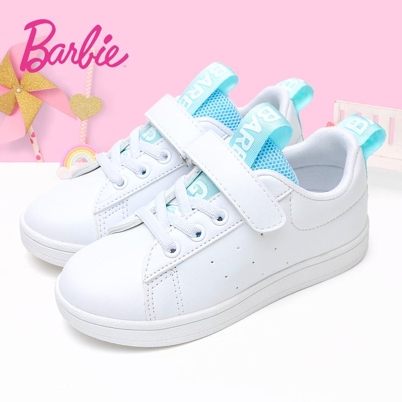 芭比童鞋女童小白鞋2018春秋亚博线上开户韩版百搭儿童运动鞋女孩公主鞋子