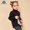 迷你巴拉巴拉女童毛针织衫加厚女宝宝毛衣高领儿童冬装保暖打底衫