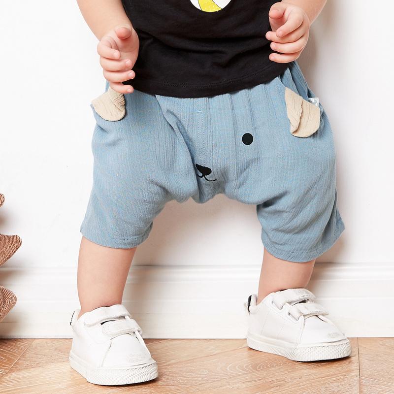 迷你巴拉巴拉男女童宝宝中裤2018夏装婴幼儿卡通动物短裤儿童裤子