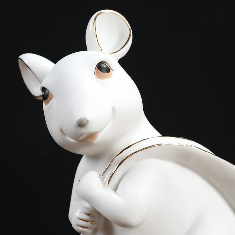 Oriental clay ceramic paint mice furnishing articles 2020 year of the rat mascot gift office/fill their carts