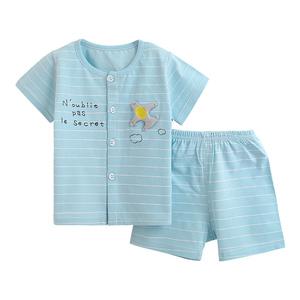 南极人儿童短袖套装宝宝夏装薄潮款男女童洋气婴儿衣服0-1-3岁夏