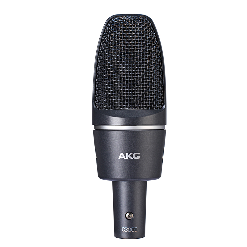 AKG-爱科技 c3000专业录音棚笔记本台式机电脑主播网络K歌电容麦克风话筒外置声卡套装直播设备全套喊麦录音