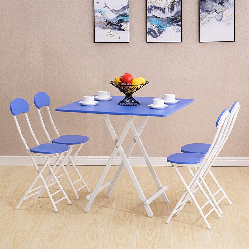 Folding table dining table home small table eating table simple small folding table and chairs portable stall table dormitory square table