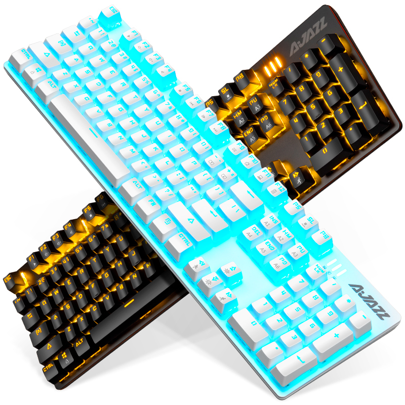 黑爵战警游戏真机械键盘青轴黑轴红轴茶轴台式电脑笔记本电竞cf有线外接朋克USB网吧网咖吃鸡金属lol外设键盘