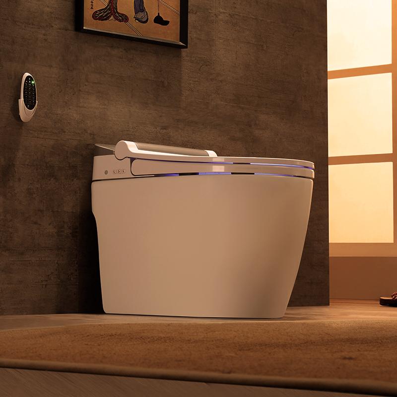 原野全自动感应翻盖智能马桶ag111.ap|开户电动无水箱一体式坐便器墙排横排
