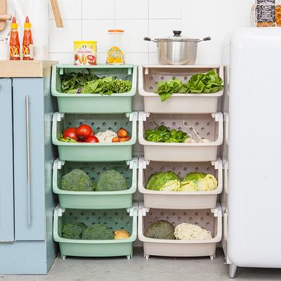 厨房置物架落地多层塑料菜篮子玩具用品用具小百货水果蔬菜收纳筐