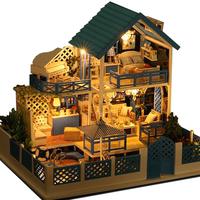 diy小屋房子模型diy手工创意礼物拼装玩具艺术屋爱琴海之旅别墅
