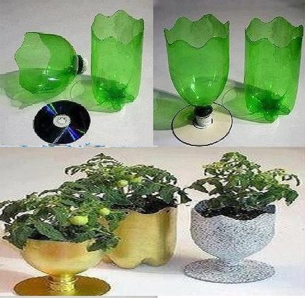 而且也没必要,其实你家只要有矿泉水瓶就能自己diy一个花盆了,好看又图片