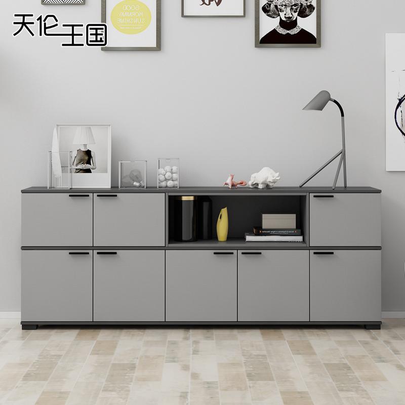 现代简约储物柜餐厅柜茶水柜碗柜客厅收纳柜多功能创意实木餐边柜