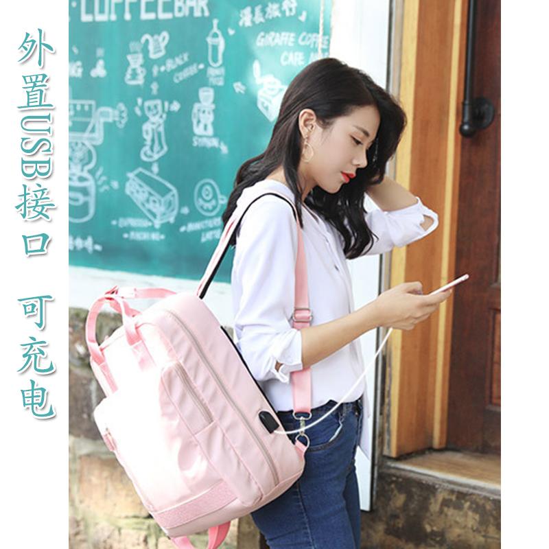 苹果联想华硕笔记本双肩电脑包13.3手提14寸15.6戴尔华为充电背包小米商务休闲书包女