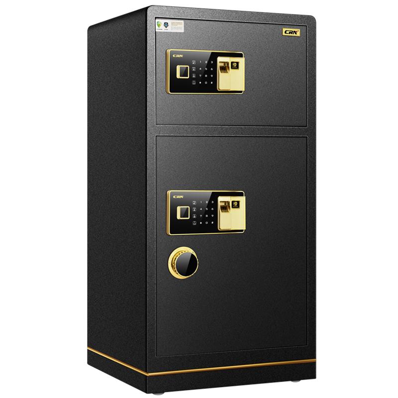德系 CRN希姆勒保险柜1米双门大型电子家用办公指纹箱全钢100cm高