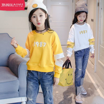 Girls spring sweater 2018 new children in the Korean version of the Western style 12-15 years old fashion clothes tide children's clothing