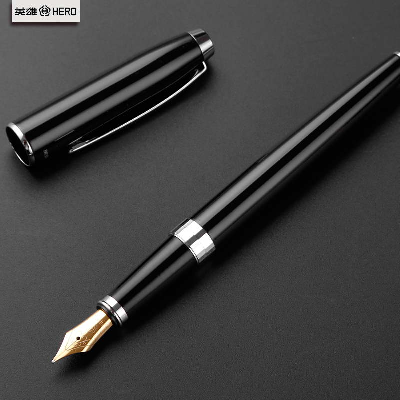 英雄钢笔957铱金笔办公用成人商务书写女式送礼礼盒装学生金属