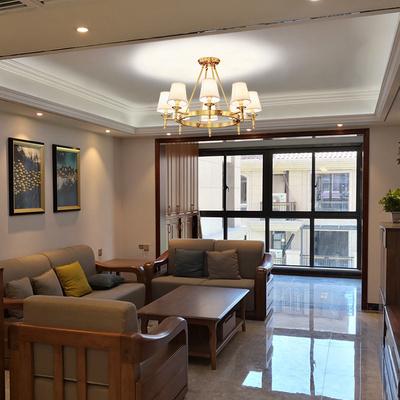 希爾頓美式客廳吊燈輕奢全銅餐廳臥室燈具組合現代簡約全屋套餐燈