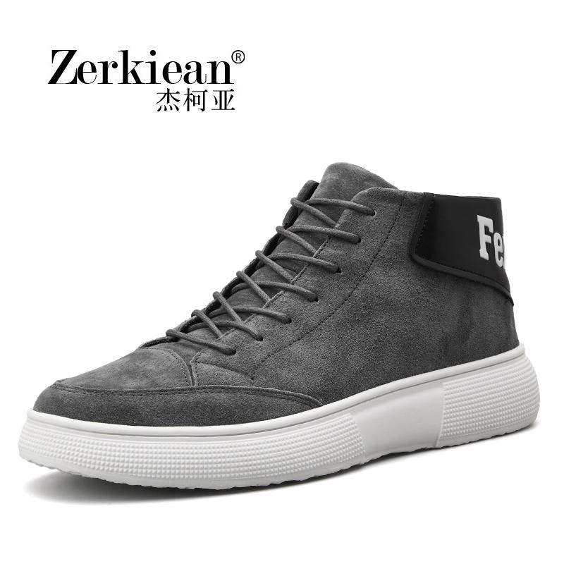 男鞋秋季潮鞋高帮时尚韩版潮流鞋子男百搭英伦休闲运动青少年板鞋