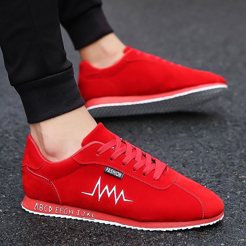 Мужская обувь зима обувь красный корейская волна струиться ах! сладкий обувной мужской спортивный досуг обувной дикий студент обувь красные туфли