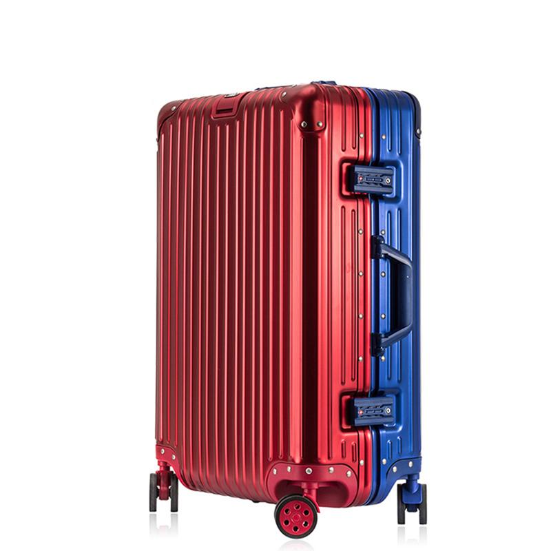 宝瑞莱全铝镁合金拉杆箱万向轮行李箱男旅行箱24寸女密码登机箱20