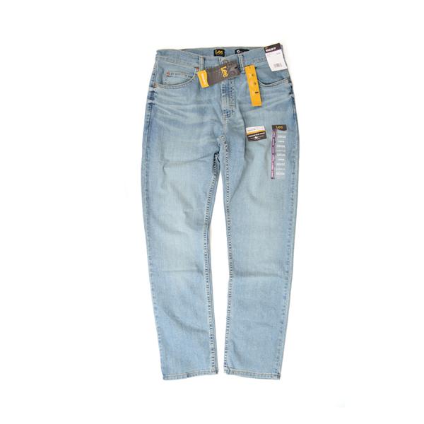 Lee牛仔裤男 美国都市男装李牌浅色水洗直筒牛仔裤 国际正品