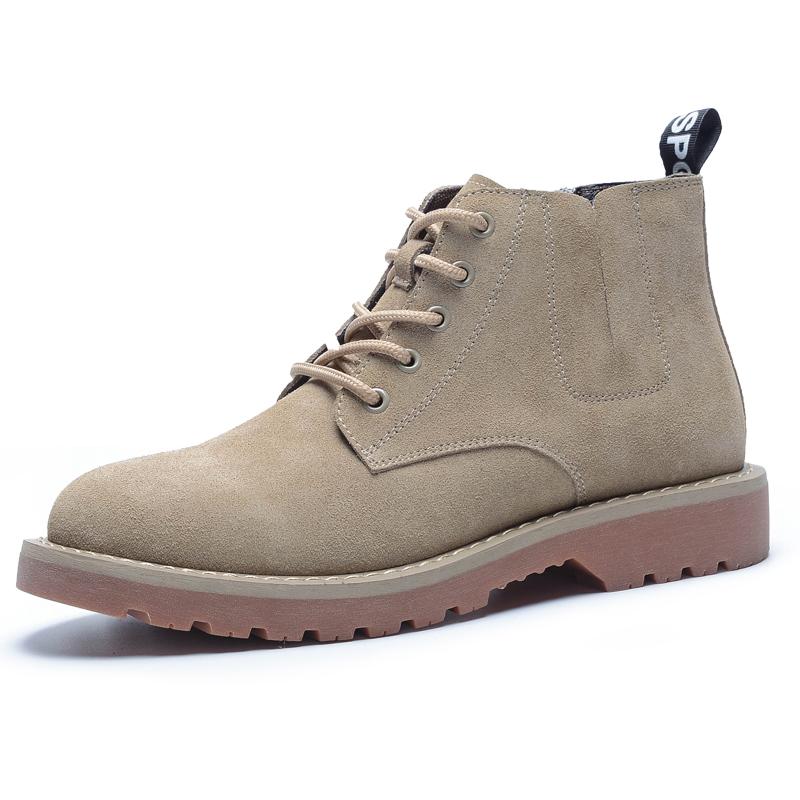 马丁靴男英伦男靴子工装鞋潮男军靴高帮沙漠冬季加绒保暖雪地棉鞋