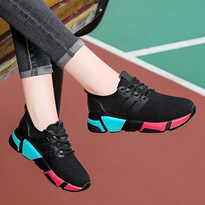 黑色运动鞋女韩版ulzzang原宿百搭潮鞋子秋季2018新款休闲跑步鞋