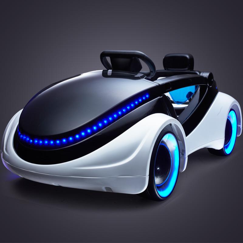 科幻儿童电动车 四轮带遥控宝宝婴儿可坐玩具车 小孩电动童车汽车