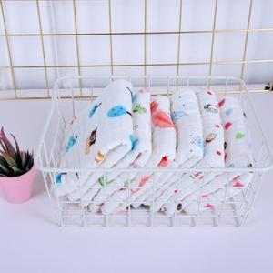 婴儿口水巾洗脸巾宝宝喂奶巾新生儿纯棉纱布毛巾小方巾纱布口水巾