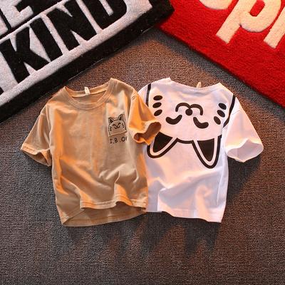 儿童短袖t恤2019新款男童宝宝婴儿夏装 洋气童装女童小童上衣体恤