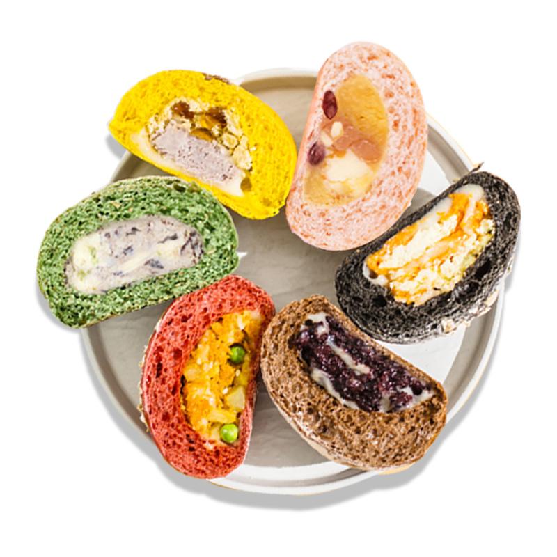 欧包全麦面包芋泥软少糖少油早餐速食网红食品蛋糕低脂毛毛先森3