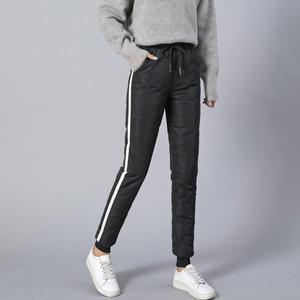 2019冬季新款羽绒裤女外穿高腰加厚白鸭绒显瘦修身大码保暖棉裤女