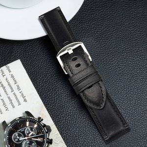小牛皮手表带20mm 22mm 24mm代用浪琴天梭美度西铁城真皮表带男