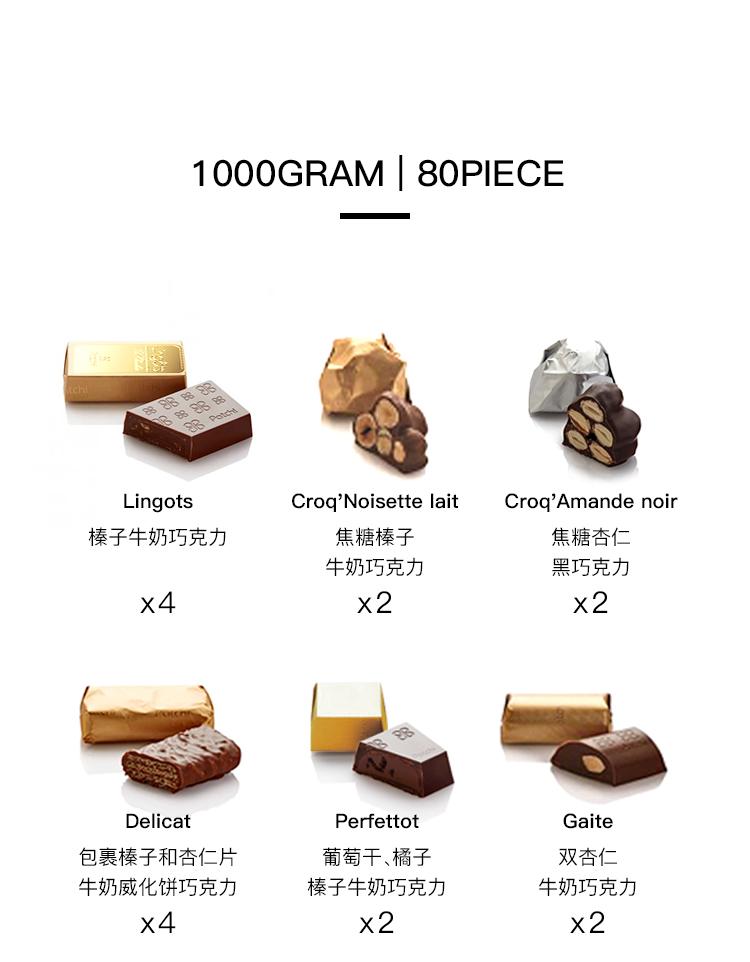 1000GRAM 80PIECEIngotsCrog' noisette laitcroq' Amande noi榛子牛奶巧克力焦糖榛子焦糖杏牛奶巧克力黑巧克力4x2x2Perfetto包裹榛子和杏仁片葡萄干、橘子双杏牛奶威化饼巧克力榛子牛奶巧克力牛奶巧克力x4x2x2-推好价 | 品质生活 精选好价