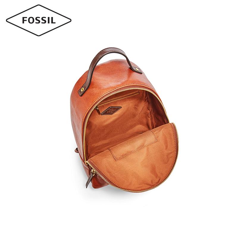 Fossil2019春夏新品摩登复古多功能牛皮双肩背包女SHB2101