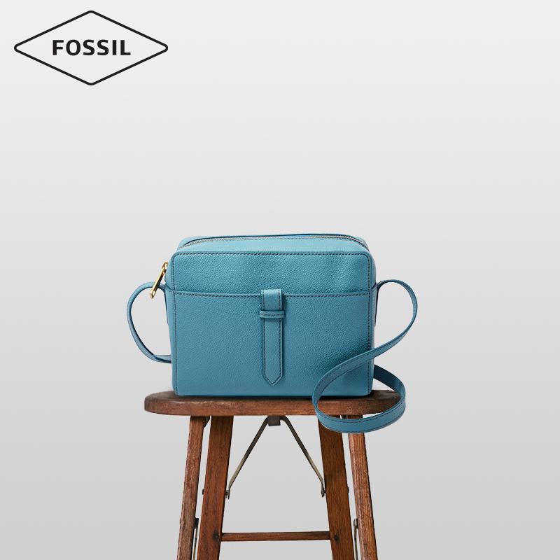 Fossil2019春夏新款文艺简约舒适牛皮单肩斜挎包女包SHB2076