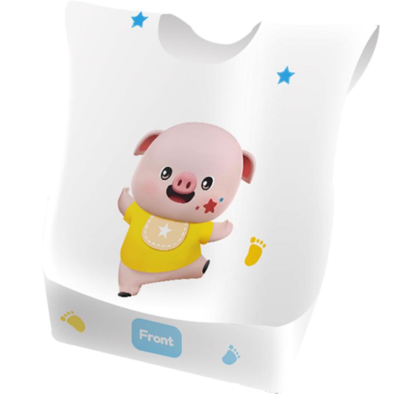 阿米嘎一次性围兜婴儿食饭兜宝宝免洗口水巾儿童轻薄便携防水围嘴