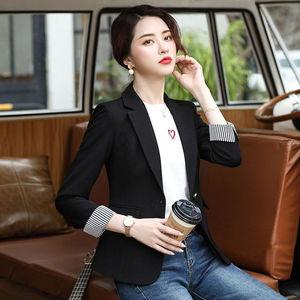 小西装外套女2021年春夏季新款韩版修身垂感薄款七分袖西服上衣女